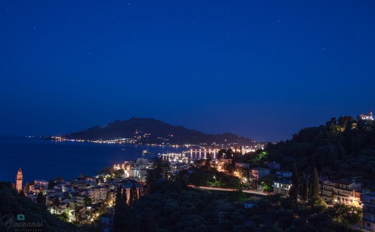 Zante port night view from Bohali resort.