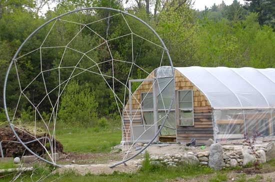 Dreamcatcher hops arbor is a recycled trampoline frame.  Keeping the thrill alive! <3