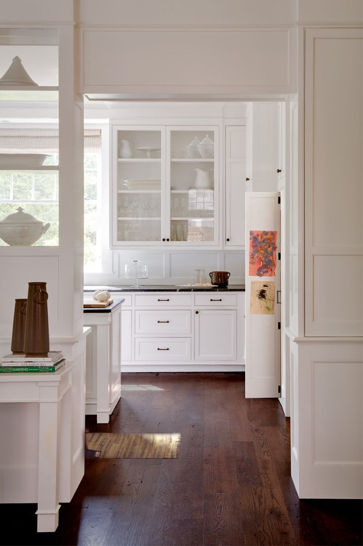 Custom Built In Cabinets Custom Design Homes Custom Home Design White Kitchen  Cabinets Old Wood Floors New Old House Washington Residential Architect  Donald ...