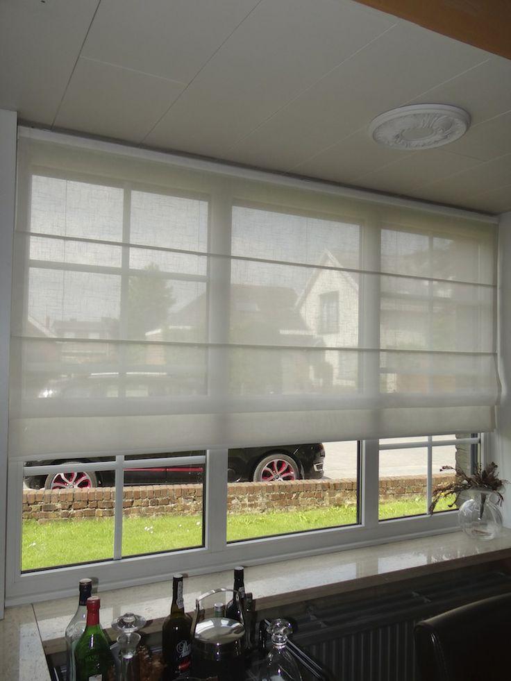 Vouwgordijn, raamdecoratie, verduistering, zonwering, licht doorlatend, binnendecoratie, binnenzonwering
