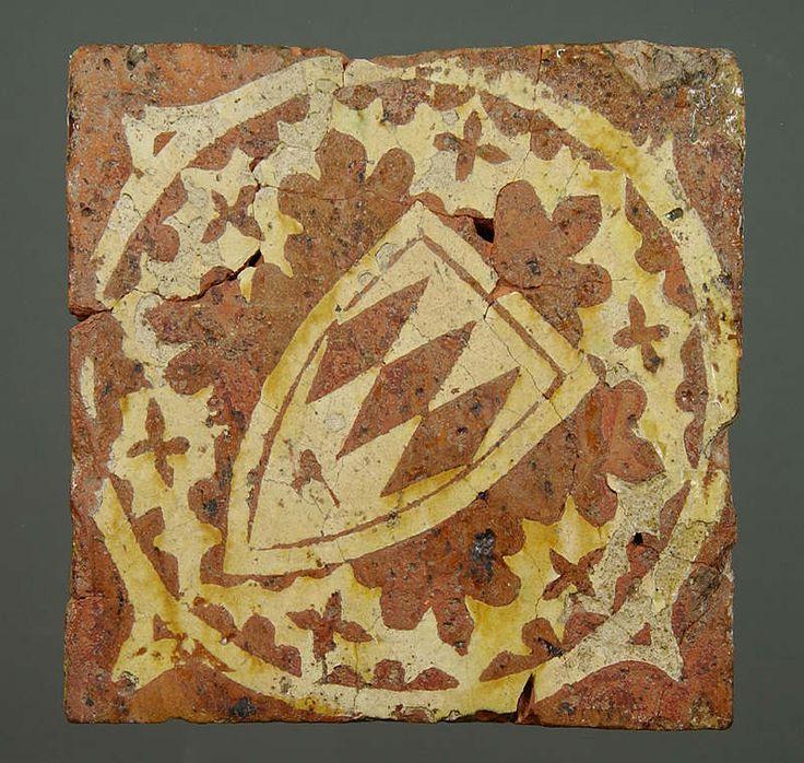 Medieval floor tile from Neath Abbey
