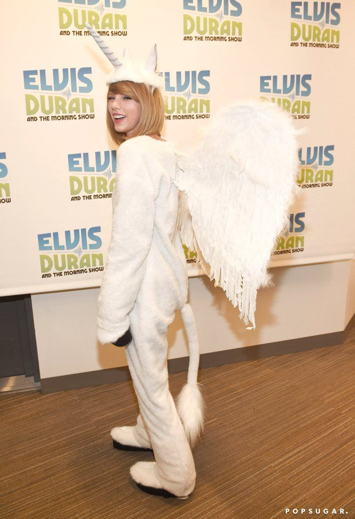 Pin for Later: Stars Prove Sexy Isn't Always Better on Halloween! Taylor Swift as a Pegacorn