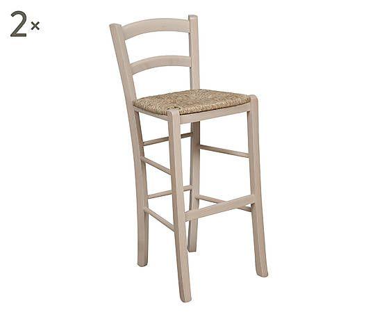 Colore Grezzo lucido Materiale Legno + Paglia Misure Lunghezza: 46 cm Altezza:101 cm Profondita': 41 cm Altezza seduta: 54 cm Dettagli L'offerta e' composta da: 1 set di 2 sgabelli. Seduta impagliata. Con barre poggiapiedi e schienale. Costi di spedizione aggiuntivi 9 euro Set di 2 sgabelli in legno e seduta impagliata Wood grezzo - 46x101x41 cm  139 €     su Dalani *