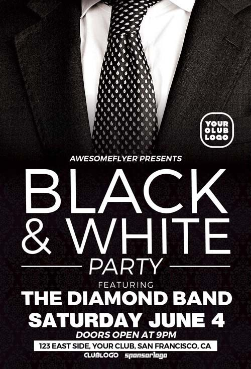 124 best Invitations images on Pinterest Event flyers, Flyer - black flyer template