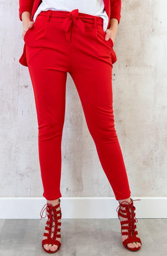71635620b89 Rode pantalon met strik - Rode broek - Red pant - STRIK BROEK BASIC ROOD -