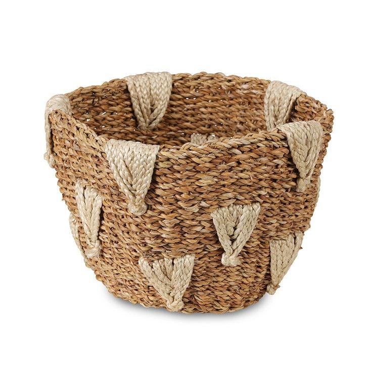 Triangle Design Jute and Hogla Basket