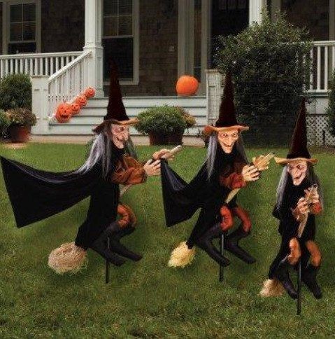 halloween witchly group of 3 outdoors decoration