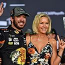 """Martin Truex Jr. checks in with the 'NASCAR Victory Lane' crew after winning the 2017 Cup Series Championship and the Ford EcoBoost 400 at Homestead-Miami Speedway. #Nascar #StockCarRacing #Racing #News #MotorSport >> More news at >>> <a href=""""http://stockcarracing.co"""">StockCarRacing.co</a> <<<"""