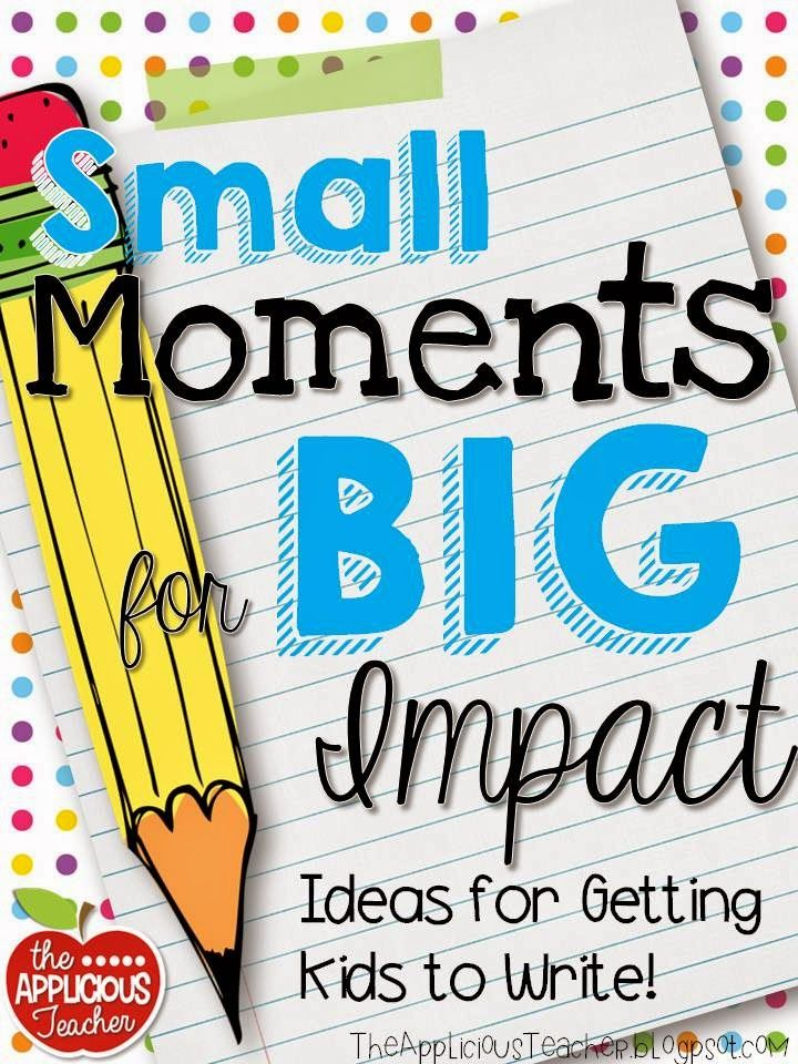 """In writing this past week, I wanted to focus on """"small moments"""" for our writing. Although, I thought my kids were heading in the right direction with their pieces, I just felt like their stories were missing something… They were missing depth, heart, and voice. Most of my kiddos were still in the """"here's my …"""