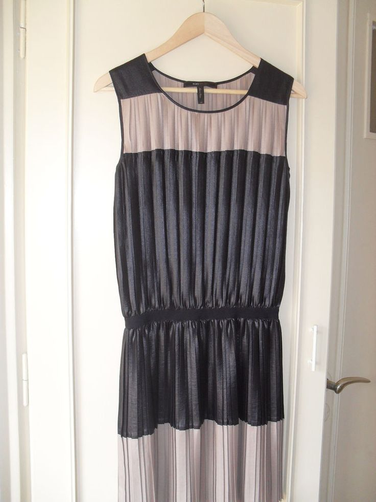 BCBG MAXAZRIA BLACK AND BEIGE BLOUSE OR SHORT DRESS SIZE XS #BCBGMAXAZRIA #Sexy #LittleBlackDress