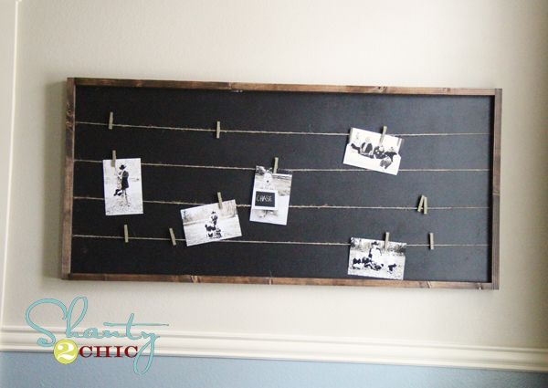 DIY Pottery Barn Inspired Memo Board..how cool would it be to paint it with chalkboard paint and write little notes?!