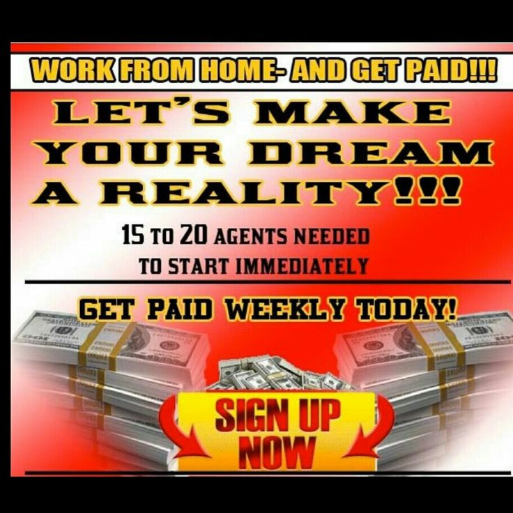 In need of 15 to 20 agents, immediate hiring! Link in the bio to get started