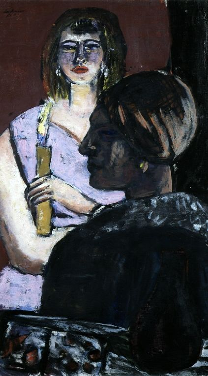Painting by Max Beckmann (1884-1950), 1941, Quappi und Inder, oil on canvas.