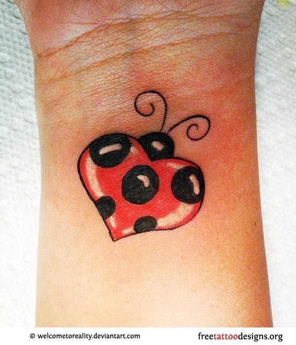 364 best insect ink images on pinterest tatoos 3d for Ladybug heart tattoos