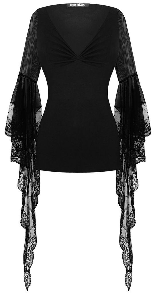 lace sleeve *witch* top <3