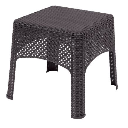 Us Leisure Resin Wicker Side Table 189982 Ovr Cafe And