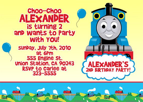 86 best thomastrain invitations images on pinterest trains awesome attractive thomas the train birthday invitation ideas pronofoot35fo Gallery