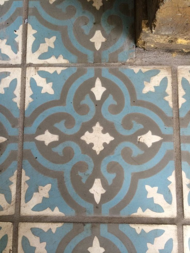 fired earth tiles - Toulouse Augustines Encaustic Hearth Tiles