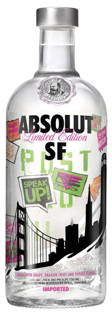 Sonderedition von Absolut Vodka in 0,75l Flasche mit 40% Vol. Alc.