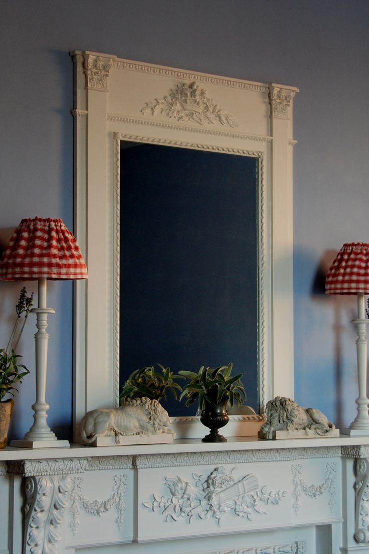 """Bouquet"" trumeau style mirror classicandchic.co.uk"