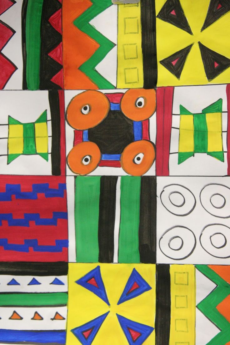 4th-6th Grade: African Kente Cloth Project