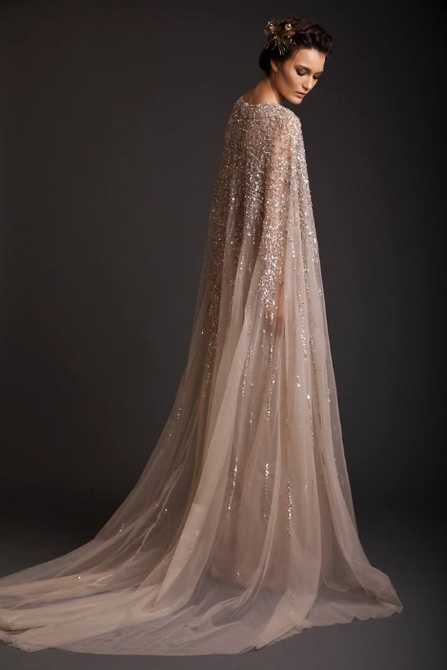 IT IS AN ELSA FROZEN DRESS!!! Evening Dresses | Krikor Jabotian Akhtamar Collection