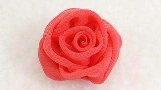 How to make Chiffon Rose, Tutorial, DIY, Chiffon Rose Bud