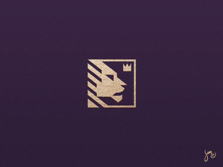 Lion | Mark Design by simc #Design Popular #Dribbble #shots