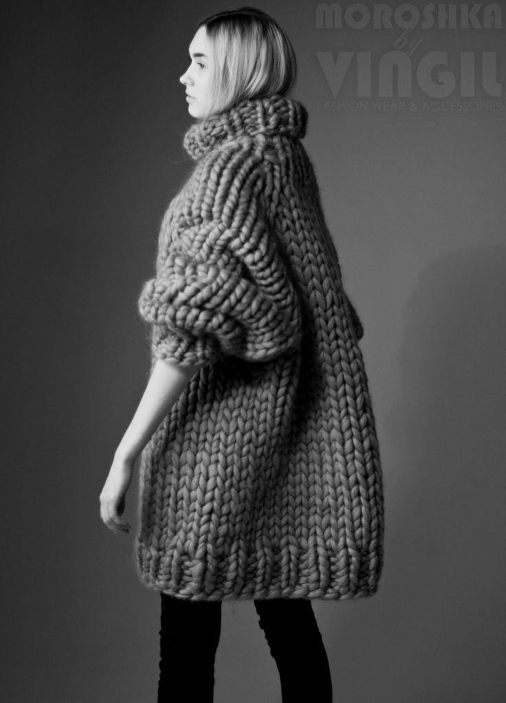 Chunky knit sweater dress. Chunky knitting by MoroshkaByVingil