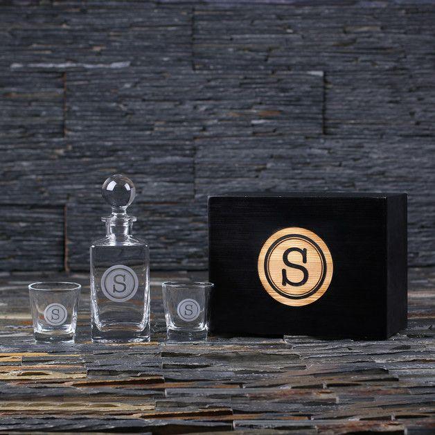 Decantador de whiskey personalizado - regalos - hecho a mano en DaWanda.es