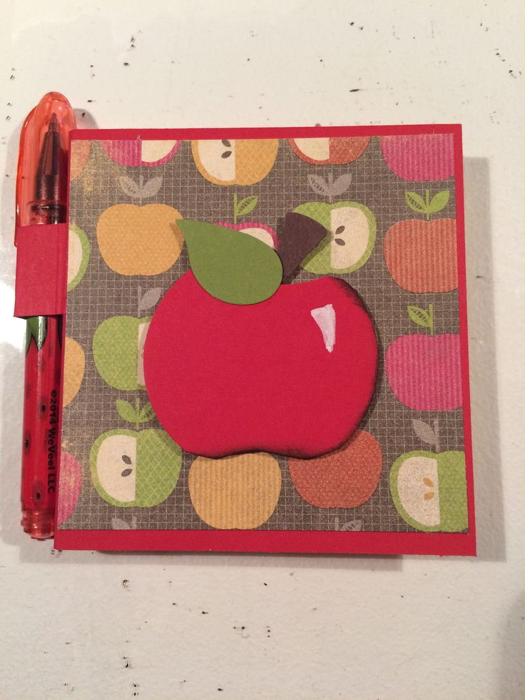Stampin Up! Moment Creatif dHelene, post-it, pomme, apple, punch art