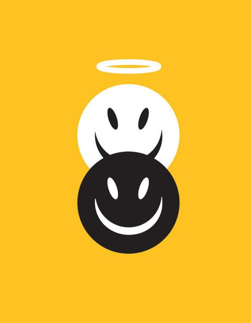 'Good vs Evil' by Noma Bar