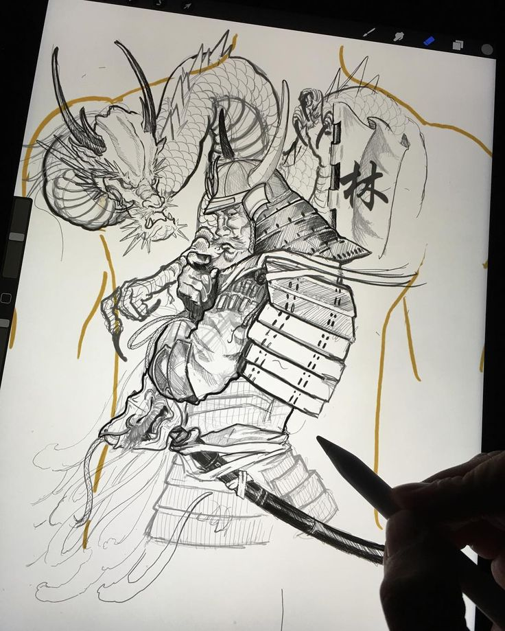 #samurai #dragon #tattoo #irezumicollective #vancouvertattoo #asianart #bnginksociety #vancouvertattoos