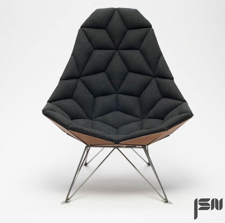 JSN design assembles diamond-shaped tiles into chair