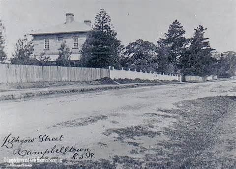 Lithgow St Campbelltown, courtesy of CAHS