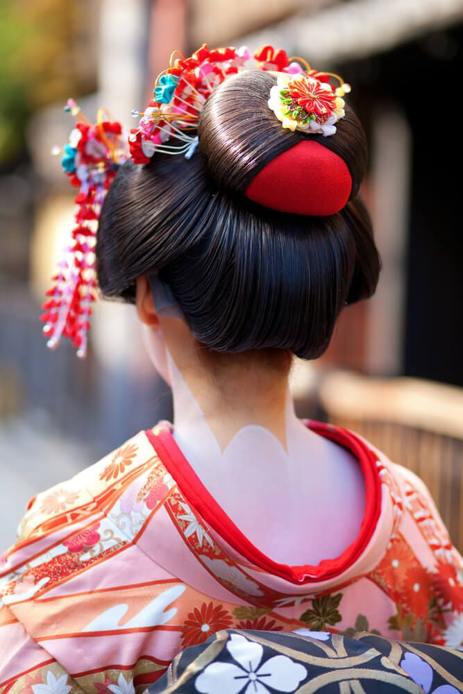 Japanese Hairstyle, coiffure traditionnelle japonaise. Geisha, Kimono, Japon, Japan. #hairstyle #japan #geisha