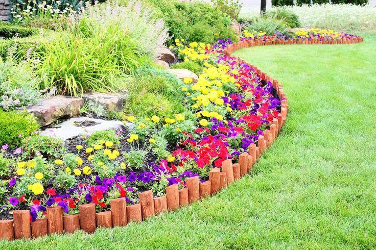 Half-Log Edging: easy flexible lawn and garden border edging | Greenes Fence