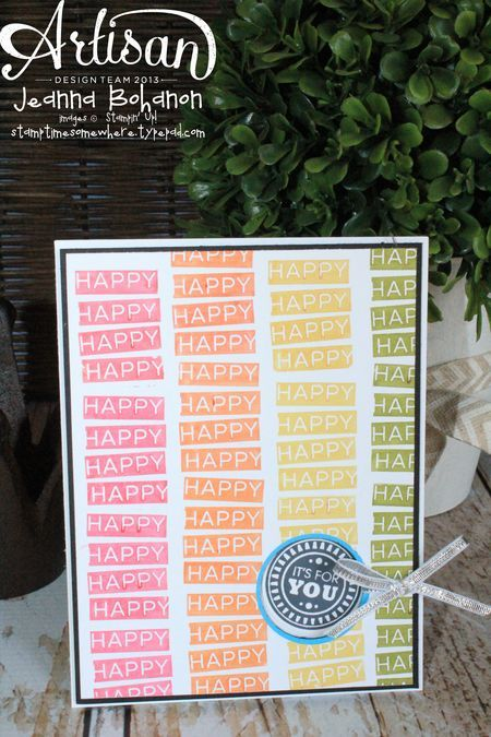 Amazing Birthday card | Jeanna Bohanon 2014 Stampin' Up! Convention Display