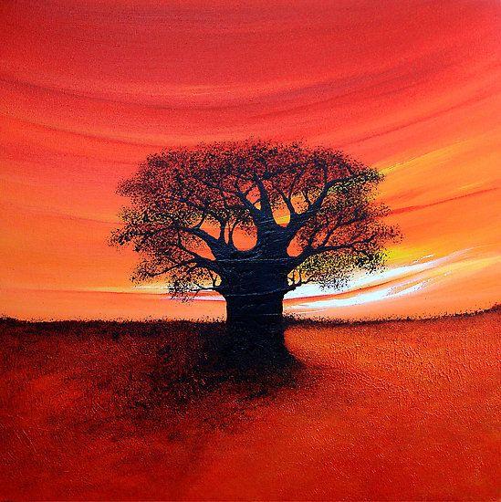 Easy Acrylic Paintings | Shirley Shelton › Portfolio › Baobab Tree