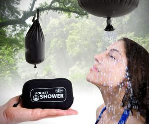 Portable-pocket-shower: Showers, Stuff, Outdoor, Things, Pocketshower, Products, Camping Ideas