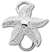 Lovely Sterling Silver Starfish Charm/Clasp For Cape Cod Convertible Bracelet By  LeStage.