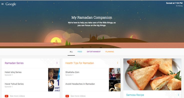 """Google offers """"My Ramadan Companion Website"""" to highlight relevant, local information for ramadan month ~ M2 Software Solutions"""