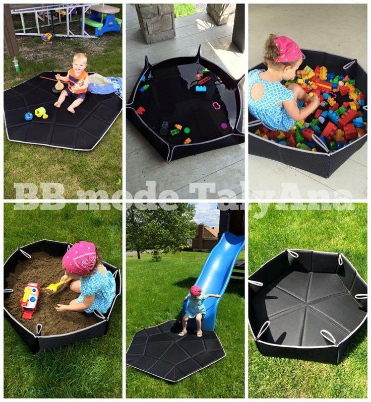 Tapis Polyvalent ! Transformez le en piscine , en carré de sable , en surface de jeux pour les jeunes enfants etc .... Magasiner en ligne au taly-ana.com