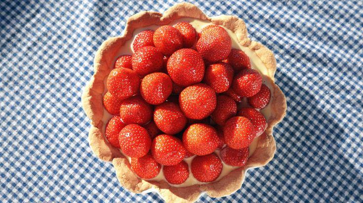 Glutenfri jordbærpai - Godt.no