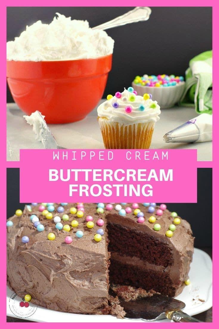 Schlagsahne Buttercreme Zuckerguss – Weiß und Schokolade