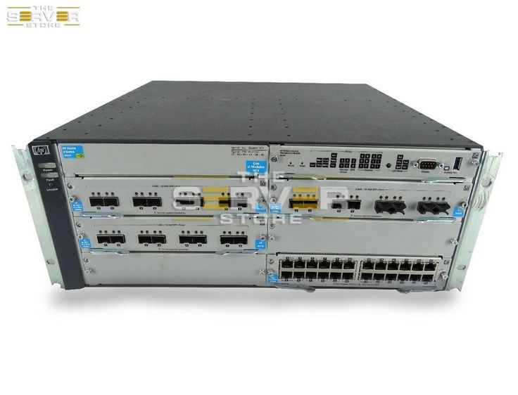 Hp Procurve E5406 Zl Switch Chassis 3x J9538a 1x J9550a Hp Network Switch Switches Networking