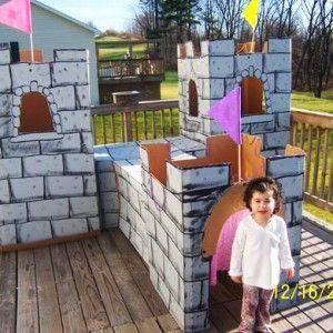 Cardboard Castle! | Birthday Decor