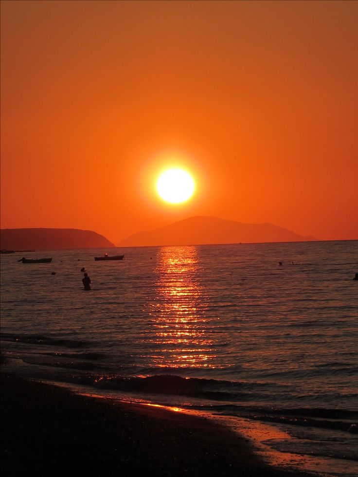 Sunset in Patras, Greece.