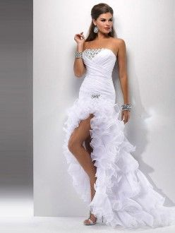 Trumpet/Mermaid Strapless Chiffon Sleeveless Asymmetrical Beading Dress