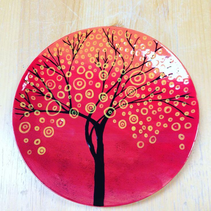 Plate painted at color me mine airdrie